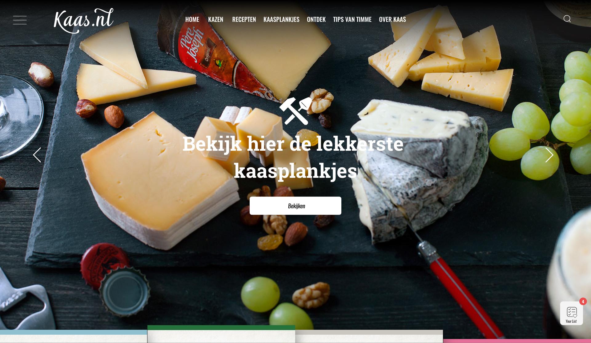 Nieuwe site Kaas.nl live!